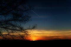 Sunset horizon sky background Stock Image