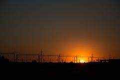 Sunset on the horizon Stock Photos