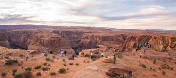 Sunset at horse shoe bend Royalty Free Stock Photography