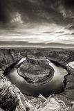 Sunset at Horseshoe Bend - Grand Canyon with Colorado River - Located in Page, Arizona, USA Stock Image