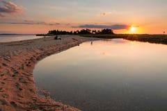 Sunset Horseshoe cove New Jersey Stock Photos