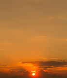 The sunset with hot color tone Stock Images