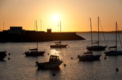 Sunset in Howth Peninsula Royalty Free Stock Photos