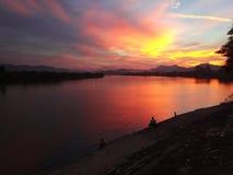 Sunset in Hué, Vietnam stock photo