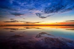 Sunset at huahin beach Stock Photography