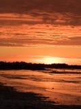 Sunset on Hudson Bay Canada Stock Image