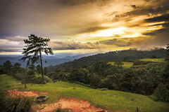 Sunset at Huenamdang National Park, Thailand Royalty Free Stock Photography