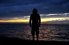 Sunset in Hungary at lake Balaton Royalty Free Stock Photography