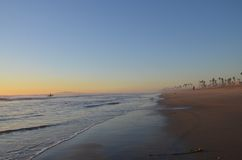 Sunset at Huntington Beach. Huntington Beach, Ca. in December 2013 Royalty Free Stock Photography