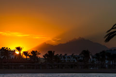 Sunset in Hurghada, Egypt Stock Photography