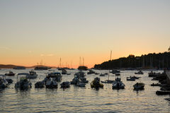 Sunset in Hvar Royalty Free Stock Images