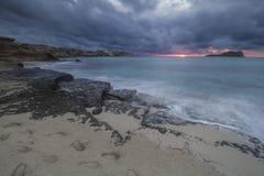 Sunset in Ibiza Stock Photography