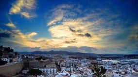 Sunset in Ibiza stock video footage