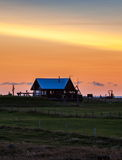 Sunset in Iceland Royalty Free Stock Photo