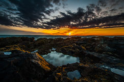 Sunset in Iceland stock images