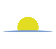 Sunset icon illustrated. On a white background Stock Images