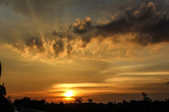 Sunset. If you love sunset, this is perfect choices Royalty Free Stock Photos