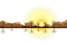 Sunset illustration Royalty Free Stock Photo