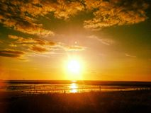 Sunset. An image I snapped of the sunset at Crosby Coastal Park Liverpool Stock Photo