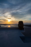 Sunset from Imerovigli, Santorini, Greece Stock Photo