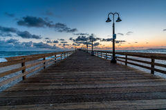 Sunset at Imperial Beach, CA. Royalty Free Stock Photos