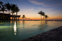 Sunset at the Imperial Hotel, Brunei. Sunset at the Imperial Hotel and Country Club, brunei Stock Photo