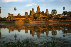 Free Sunset In Angkor Wat Royalty Free Stock Images - 9035539