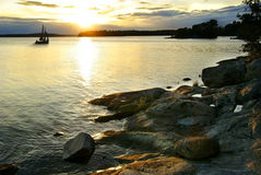 Free Sunset In Archipelago Royalty Free Stock Image - 16136906