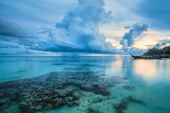 Sunset In Beautiful Island Of Koh Lipe, Thailand Royalty Free Stock Photos
