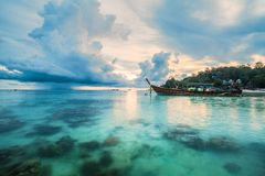 Sunset In Beautiful Island Of Koh Lipe, Thailand Stock Images