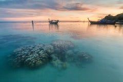Sunset In Beautiful Island Of Koh Lipe, Thailand Royalty Free Stock Photo