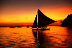 Sunset In Boracay Royalty Free Stock Image