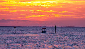 Sunset In Destin Royalty Free Stock Photography