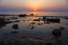 Free Sunset In Egypt, Near Red Sea Royalty Free Stock Image - 183378196