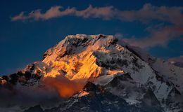 Sunset In Himalaya Stock Images