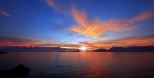 Sunset In Lerici - Liguria Italy Stock Photo