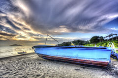 Free Sunset In Majestic Sky With Boat Royalty Free Stock Images - 33108129