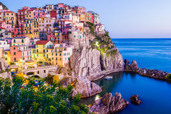 Free Sunset In Manarola, Cinque Terre, Italy Royalty Free Stock Images - 38732969