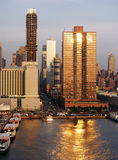 Sunset In New York Stock Photography