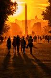Sunset In Paris Stock Images