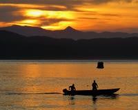 Sunset In Santos SP Brazil Stock Photo