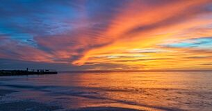 Free Sunset In St. Petersburg Florida Stock Photography - 186432812