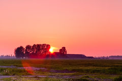 Sunset In The Countryside Stock Photos