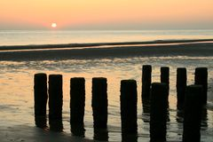 Sunset In The Netherlands (Zeeland) Stock Photography