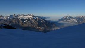 Sunset In The Pizol Ski Area Royalty Free Stock Photos