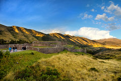 Sunset In The Puca Pucara, Inca Ruins At Secret Valey, Cuzco Per Stock Photography