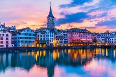 Free Sunset In Zurich, Switzerland Stock Image - 124964791