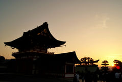 Sunset in Inari, Japan. Sunset between shinto temples in Inari, near Kyoto, Japan Royalty Free Stock Photography