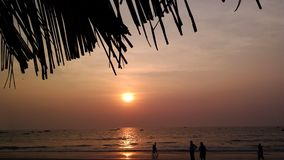 Sunset in India Royalty Free Stock Photos