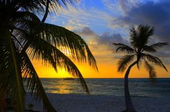 Sunset in the Indian Ocean royalty free stock photography